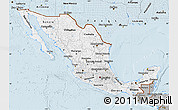 Gray Map of Mexico