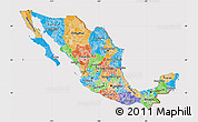 Political Map of Mexico, cropped outside