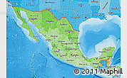 Political Shades Map of Mexico