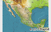 Satellite Map of Mexico, physical outside, satellite sea