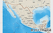 Shaded Relief Map of Mexico