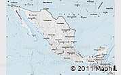 Silver Style Map of Mexico