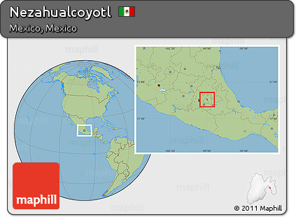 Nezahualcoyotl Mexico Map.Free Savanna Style Location Map Of Nezahualcoyotl