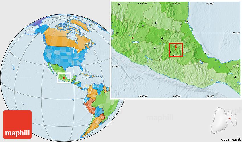 Tlalnepantla Mexico Map.Political Location Map Of Tlalnepantla