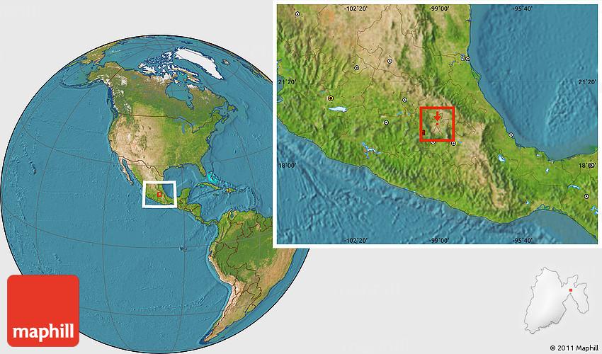 satellite location map of tultepec