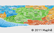 Political Shades Panoramic Map of Michoacan