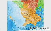Political Shades 3D Map of Nayarit