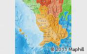 Political Shades Map of Nayarit
