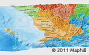 Political Shades Panoramic Map of Nayarit