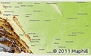 Physical 3D Map of Cadereyta Jimenez