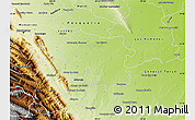 Physical Map of Cadereyta Jimenez