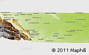 Physical Panoramic Map of Cadereyta Jimenez