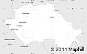 Silver Style Simple Map of General Teran