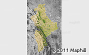 Satellite Map of Nuevo Leon, desaturated