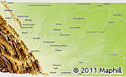 Physical 3D Map of Montemorelos