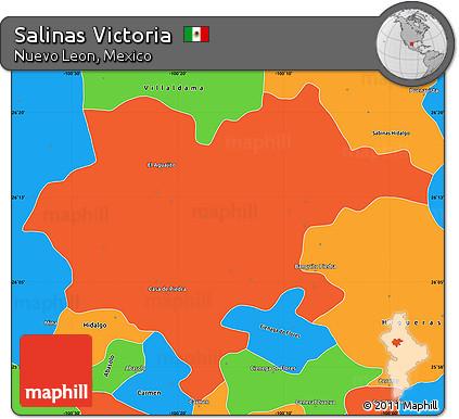 Salinas Mexico Map.Free Political Simple Map Of Salinas Victoria