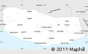 Silver Style Simple Map of Dist. Pochutla