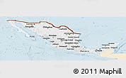 Classic Style Panoramic Map of Mexico, single color outside