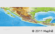 Physical Panoramic Map of Mexico