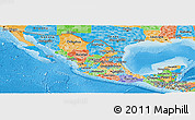 Political Panoramic Map of Mexico
