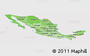 Political Shades Panoramic Map of Mexico, cropped outside