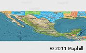 Satellite Panoramic Map of Mexico, political outside, satellite sea