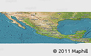 Satellite Panoramic Map of Mexico