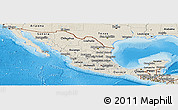 Shaded Relief Panoramic Map of Mexico