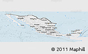 Silver Style Panoramic Map of Mexico, single color outside