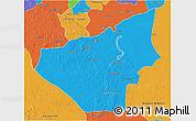 Political 3D Map of Jose Maria Morelos