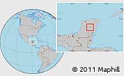 Gray Location Map of Lago Chicnancanab