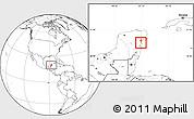 Blank Location Map of Lago Chunyaxche