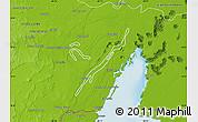 Physical Map of Laguna Bacalar
