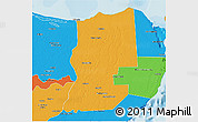 Political 3D Map of Lazaro Cardenas