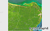 Satellite 3D Map of Lazaro Cardenas