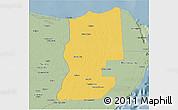 Savanna Style 3D Map of Lazaro Cardenas