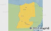 Savanna Style 3D Map of Lazaro Cardenas, single color outside