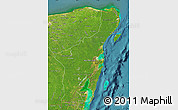 Satellite Map of Quintana Roo