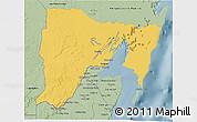 Savanna Style 3D Map of Othon P. Blanco