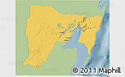 Savanna Style 3D Map of Othon P. Blanco, single color outside