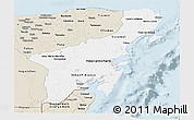 Classic Style Panoramic Map of Quintana Roo