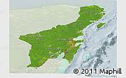 Satellite Panoramic Map of Quintana Roo, lighten