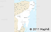 Classic Style Simple Map of Quintana Roo