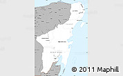 Gray Simple Map of Quintana Roo