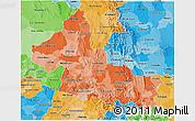 Political Shades 3D Map of San Luis Potosi
