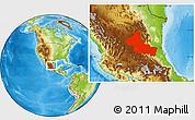 Physical Location Map of San Luis Potosi