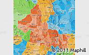 Political Shades Map of San Luis Potosi