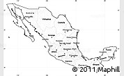 Blank Simple Map of Mexico, cropped outside