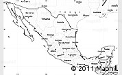 Blank Simple Map of Mexico