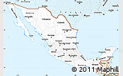 Classic Style Simple Map of Mexico